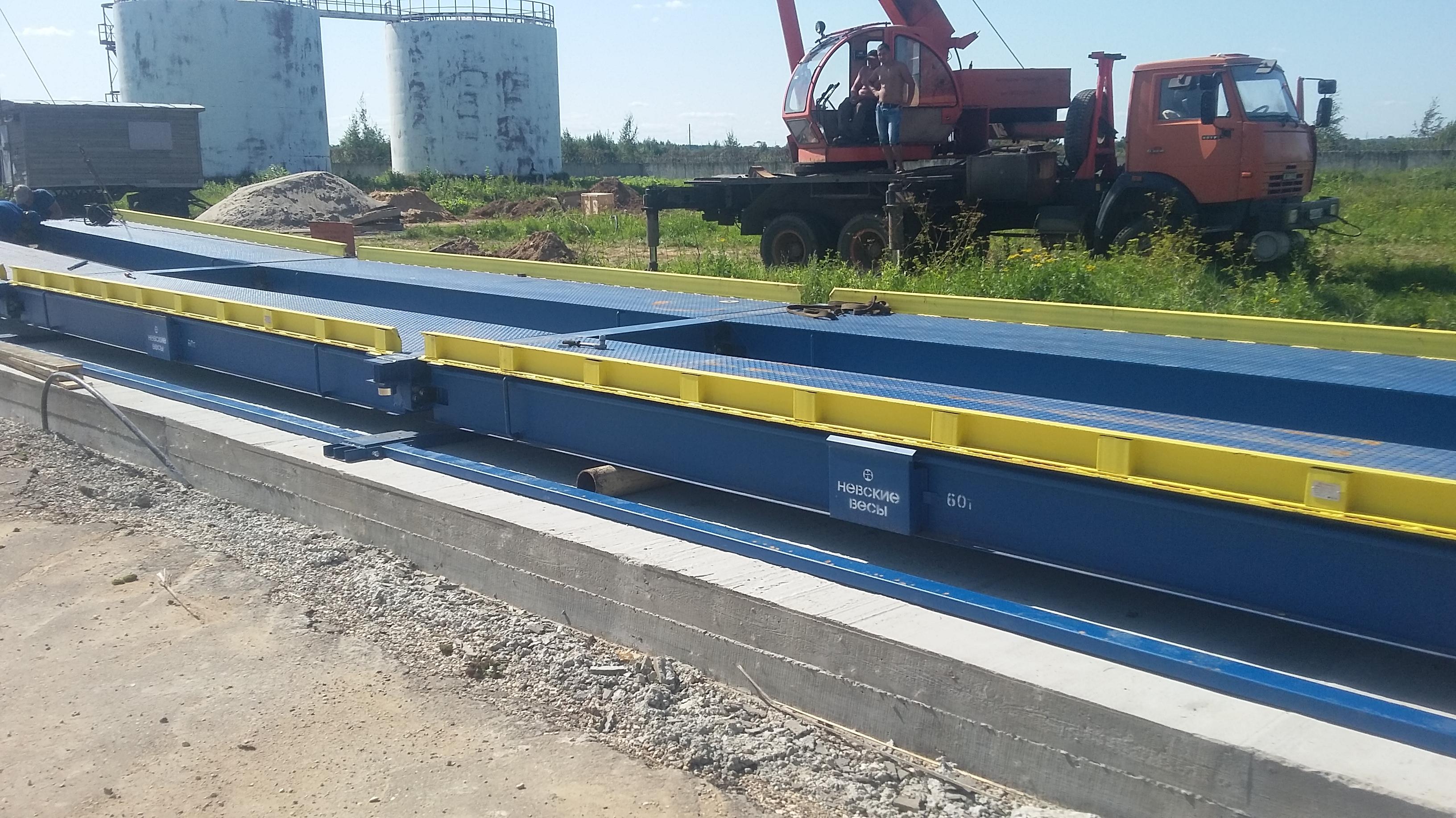 Монтаж автомобильных весов ВСА-Р60000-18 в Ярославле.